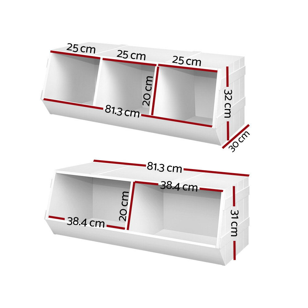 Brand New Keezi Kids Toy Box Bookshelf Storage Cabinet Stackable Bookcase Shelf Organiser Fast Free Shipping
