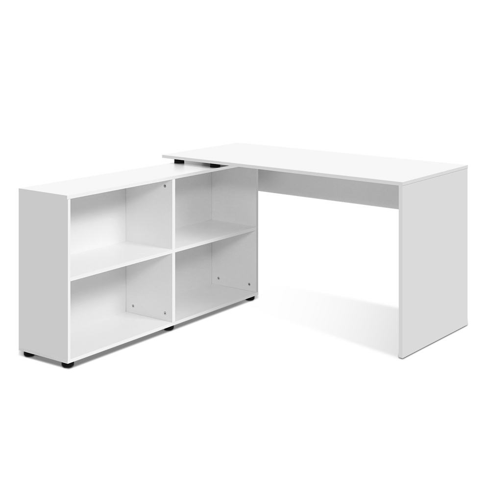 Artiss Office Computer Desk Corner Study Table Workstation Bookcase Storage