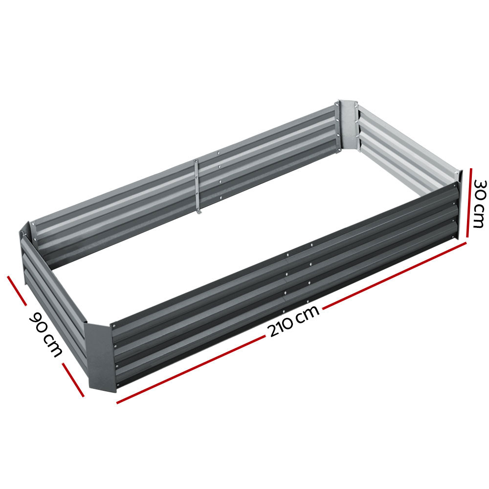 🥇 New Greenfingers Galvanised Steel Raised Garden Bed Instant Planter 210 x 90 Aluminium ⭐+ Fast Free Shipping 🚀