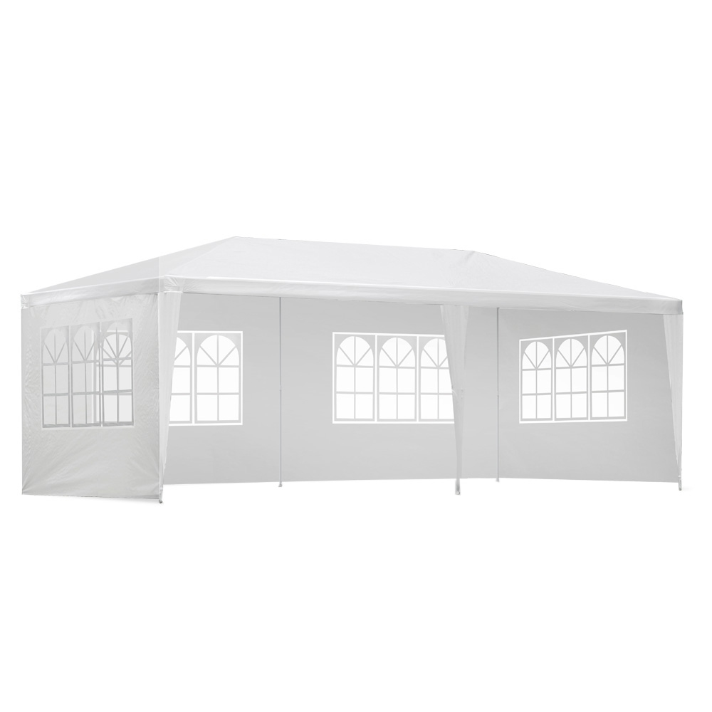 [Brand New] Instahut Gazebo 3x6m Outdoor Marquee Side Wall Party Wedding Tent Camping White 4 Panel Fast Free Shipping Australia Wide 2020