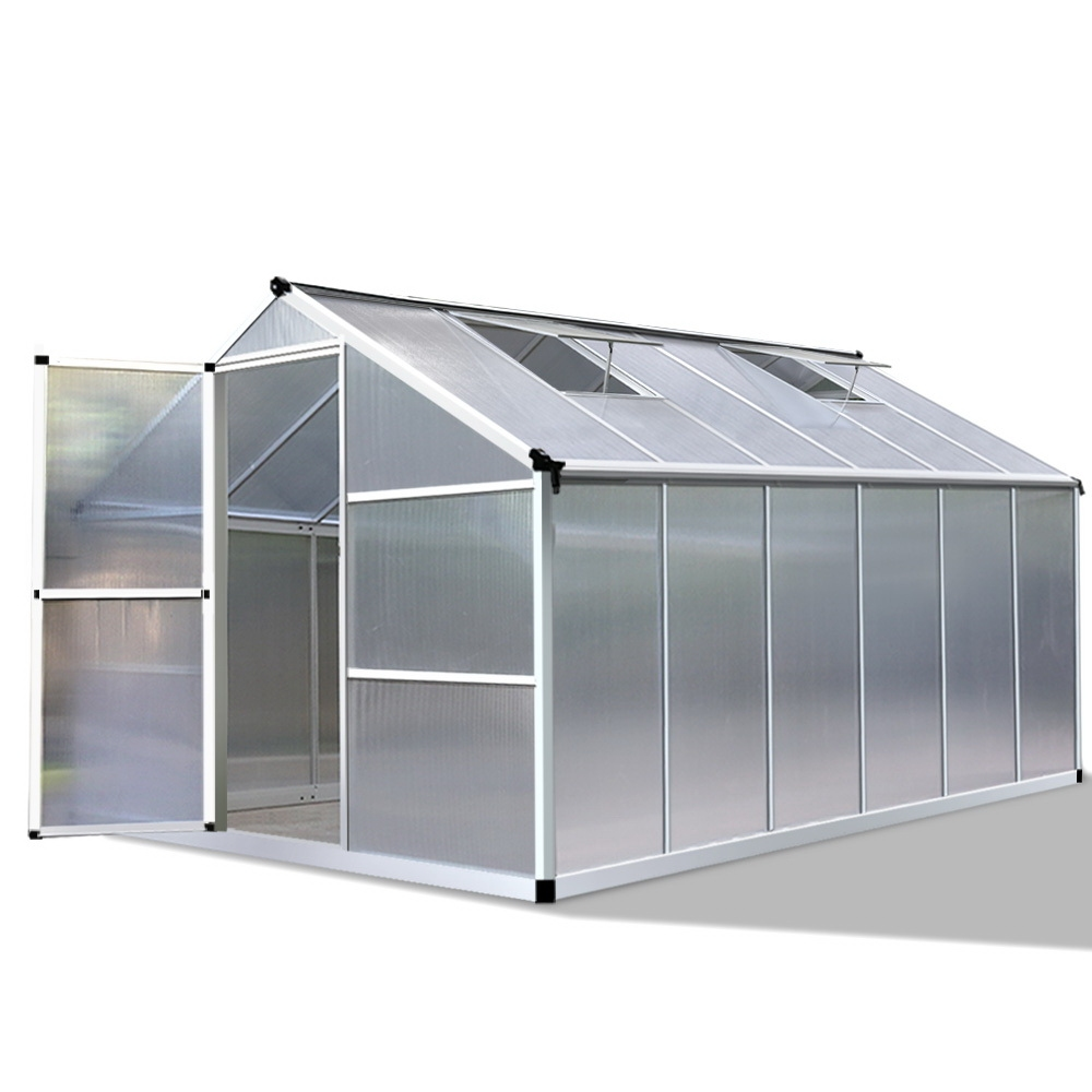 Greenfingers Greenhouse Aluminium Green House Garden Shed Greenhouses 3.62x2.5M
