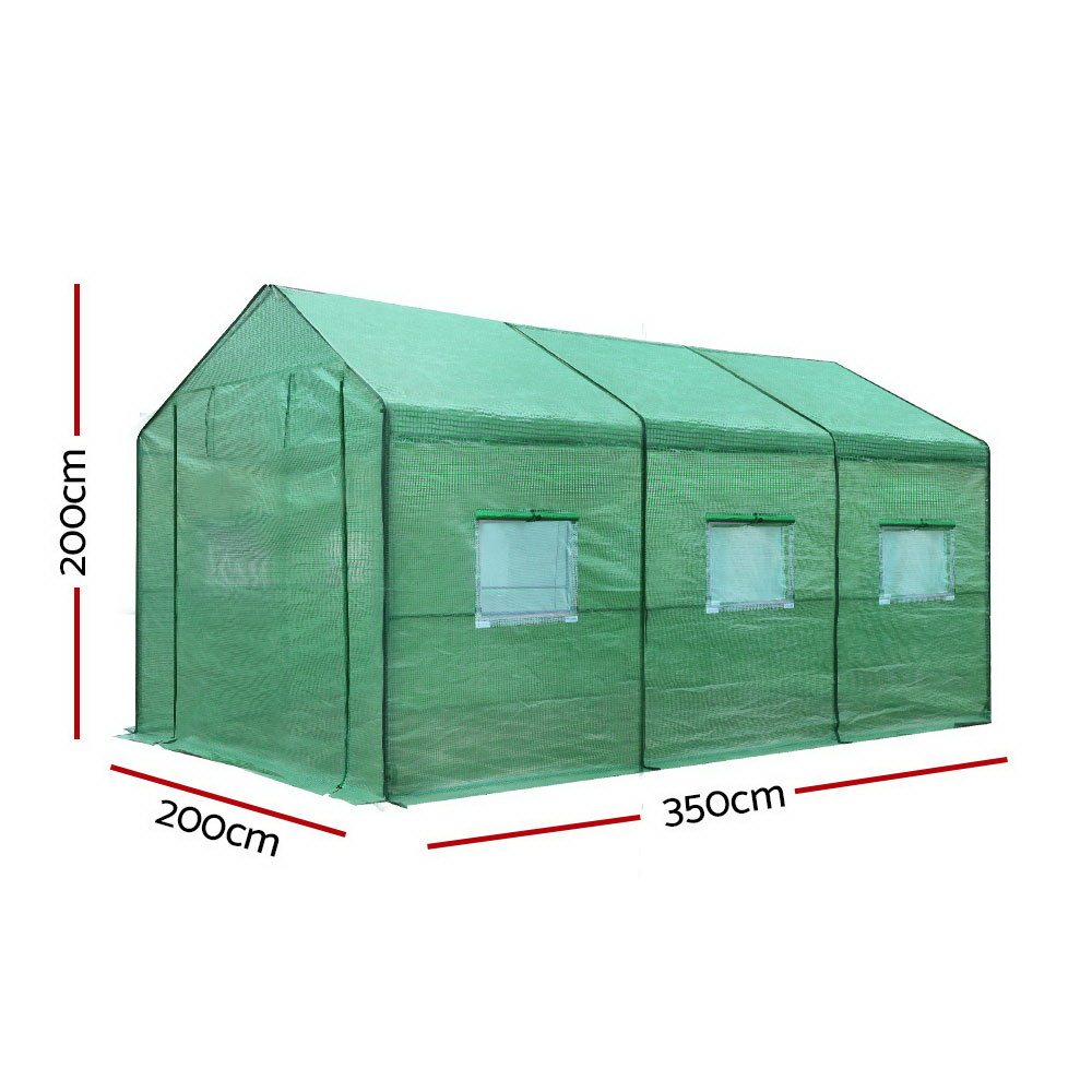 Brand New Greenfingers Greenhouse Garden Shed Green House 3.5X2X2M Greenhouses Storage Lawn Fast Free Shipping