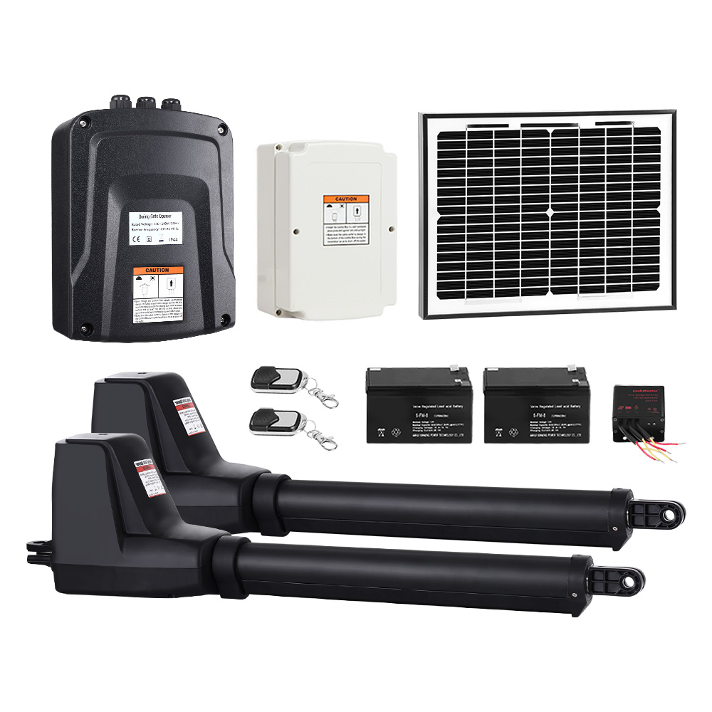 🥇 New LockMaster Swing Gate Opener Auto Solar Power Electric Kit Remote Control 1000KG ⭐+ Fast Free Shipping 🚀