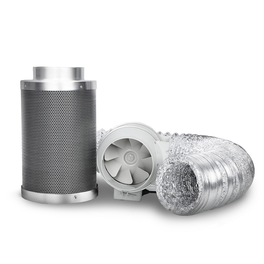 Greenfingers 6 inch  Hydroponics Grow Tent Kit Ventilation Kit Fan Carbon Filter Duct