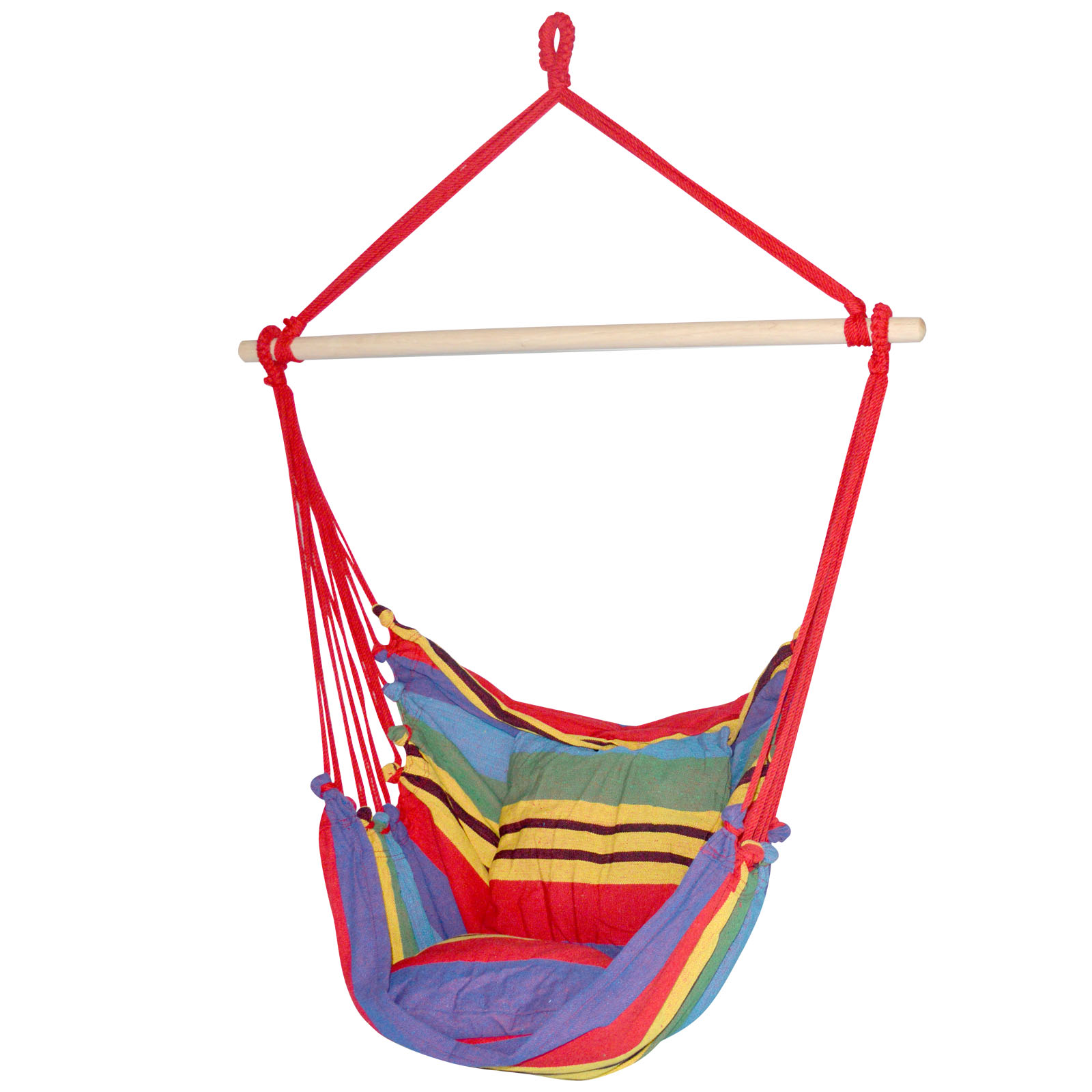 New Gardeon Hammock Swing Chair with Cushion - Multi-colour + Fast Free Shipping