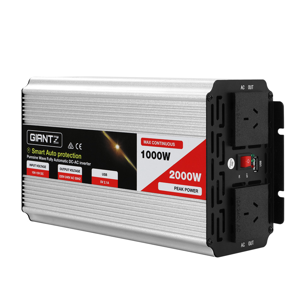 Giantz 1000W Puresine Wave DC-AC Power Inverter
