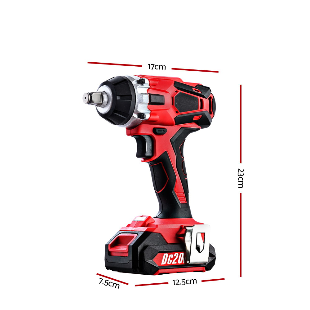 Cordless Impact Wrench 20V Lithium-Ion Battery Rattle Gun Sockets (IWRENCH-18-250-RD )