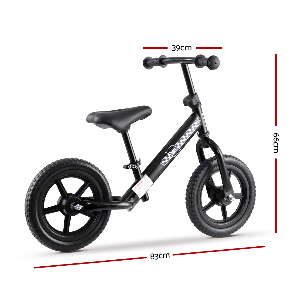 🥇 New Kids Balance Bike Ride On Toys Puch Bicycle Wheels Toddler Baby 12″ Bikes Black ⭐+ Fast Free Shipping 🚀