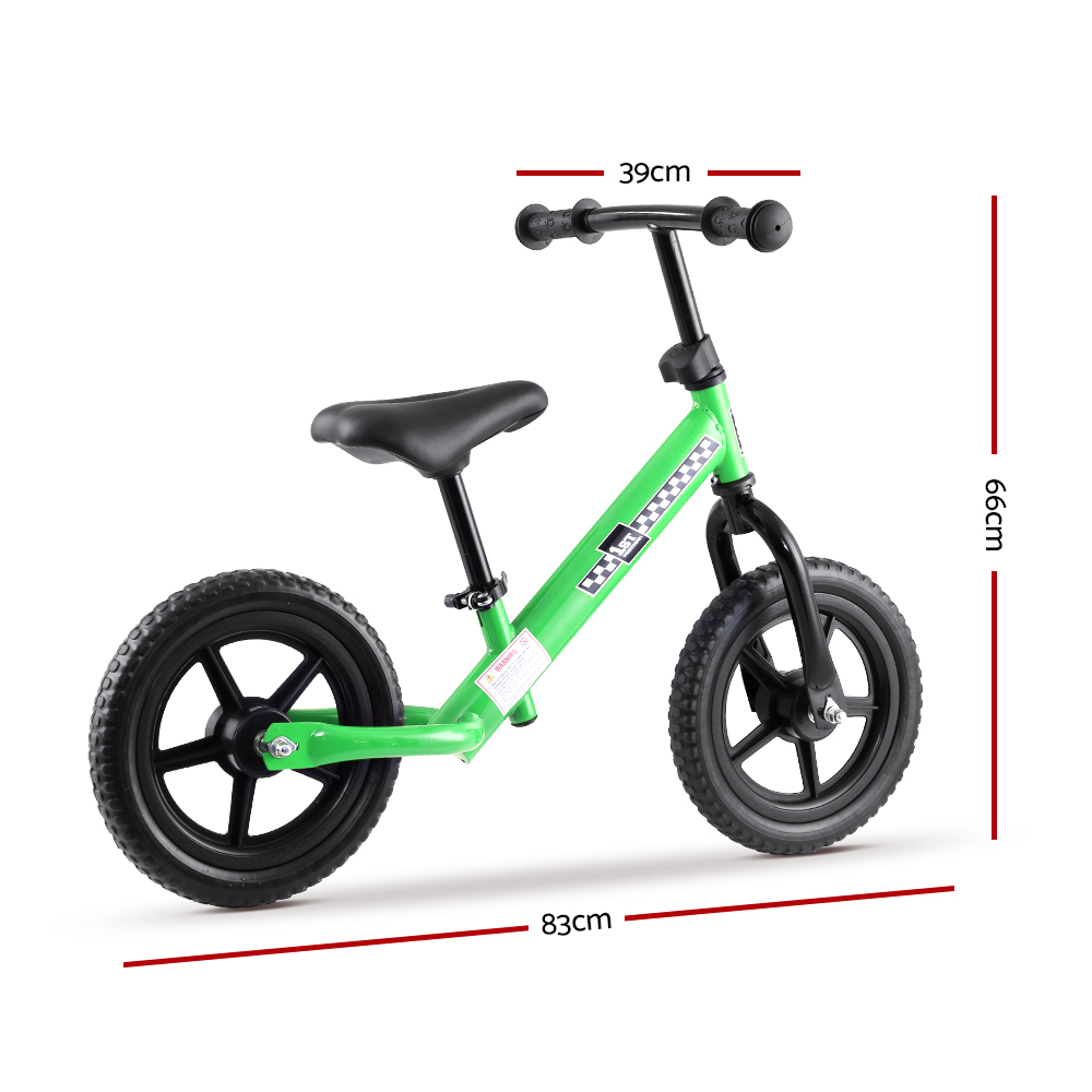 🥇 New Kids Balance Bike Ride On Toys Puch Bicycle Wheels Toddler Baby 12″ Bikes Green ⭐+ Fast Free Shipping 🚀