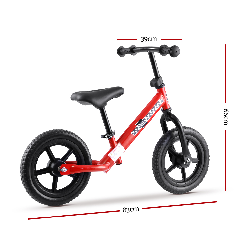 🥇 New Kids Balance Bike Ride On Toys Puch Bicycle Wheels Toddler Baby 12″ Bikes Red ⭐+ Fast Free Shipping 🚀