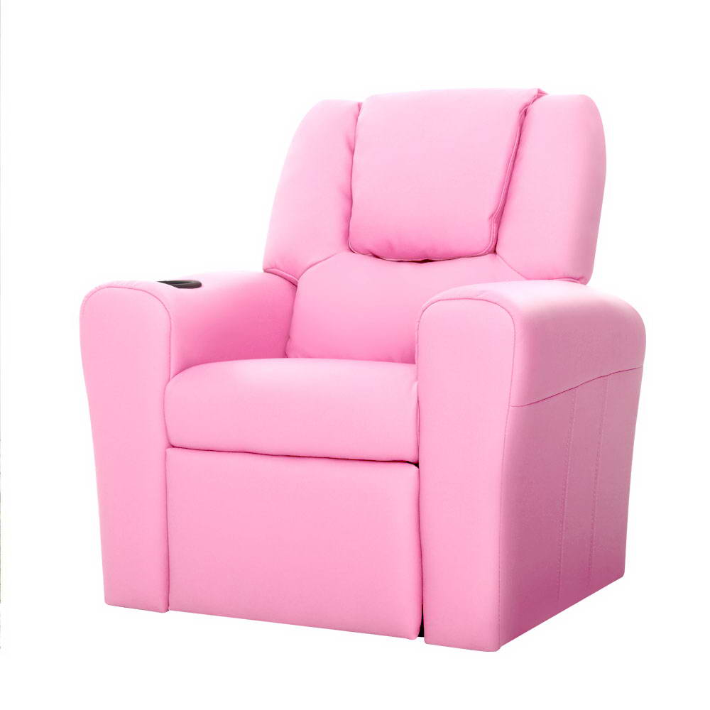 🥇 New Artiss Kids PU Leather Reclining Armchair – Pink ⭐+ Fast Free Shipping 🚀