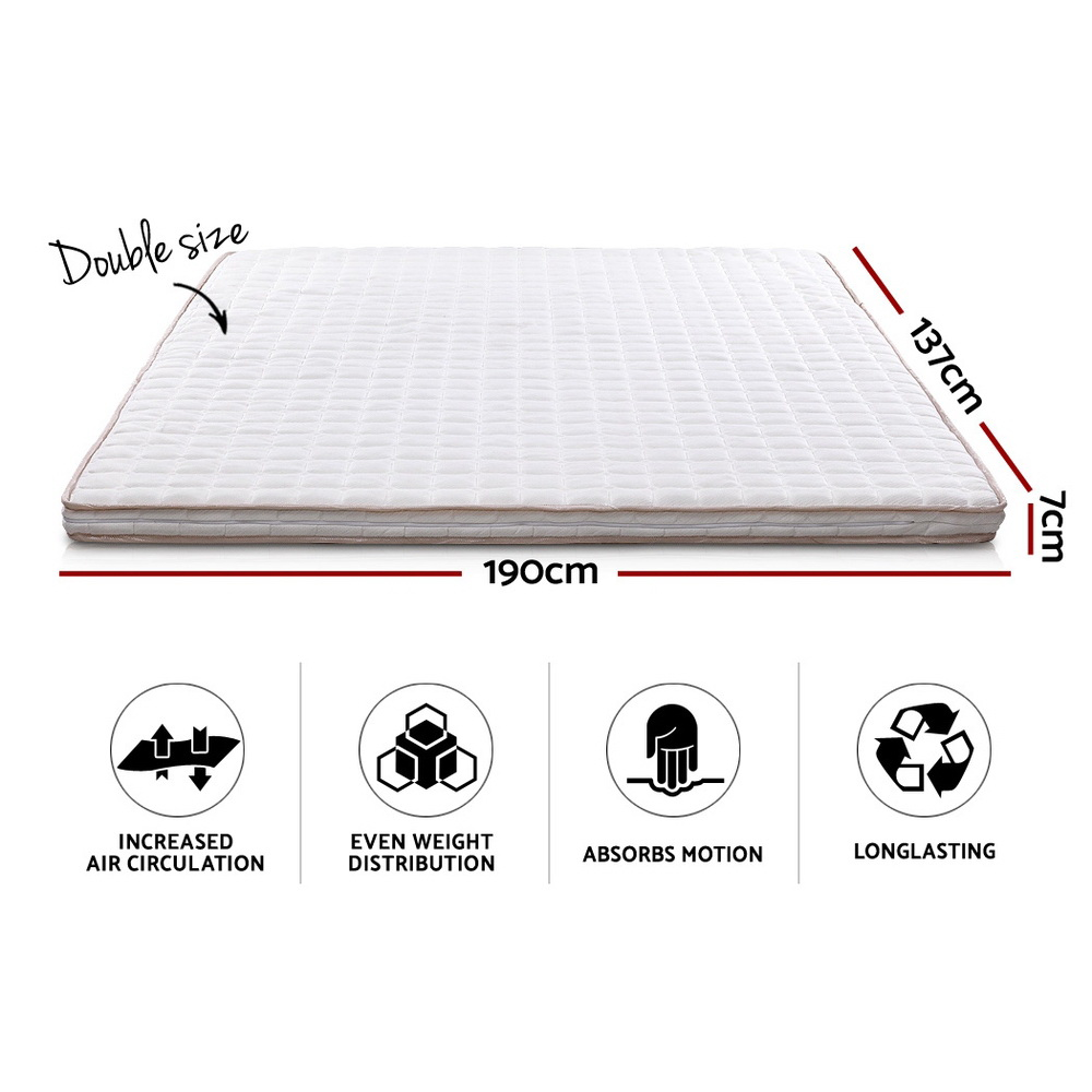 🥇 New Giselle Bedding Memory Foam Mattress Topper Bed Underlay Cover Double 7cm ⭐+ Fast Free Shipping 🚀