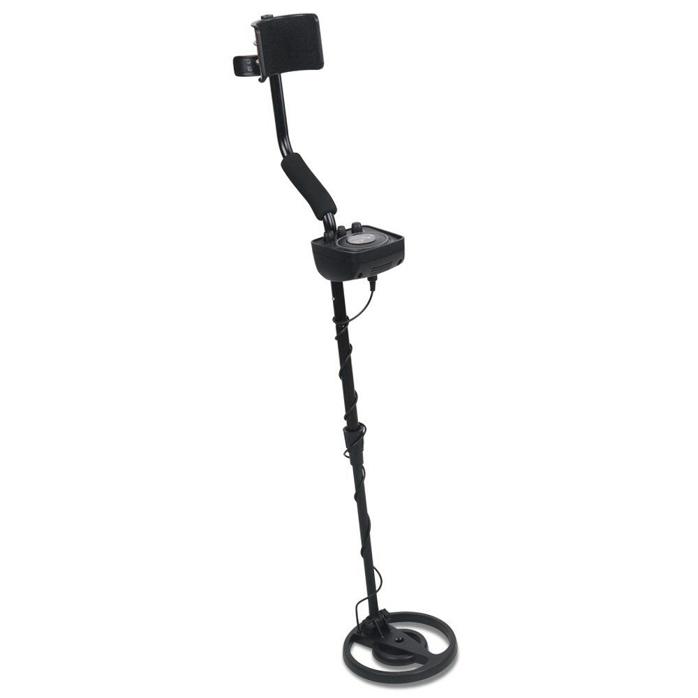 New LED Metal Detector with Headphones - Black + Fast Free Shipping