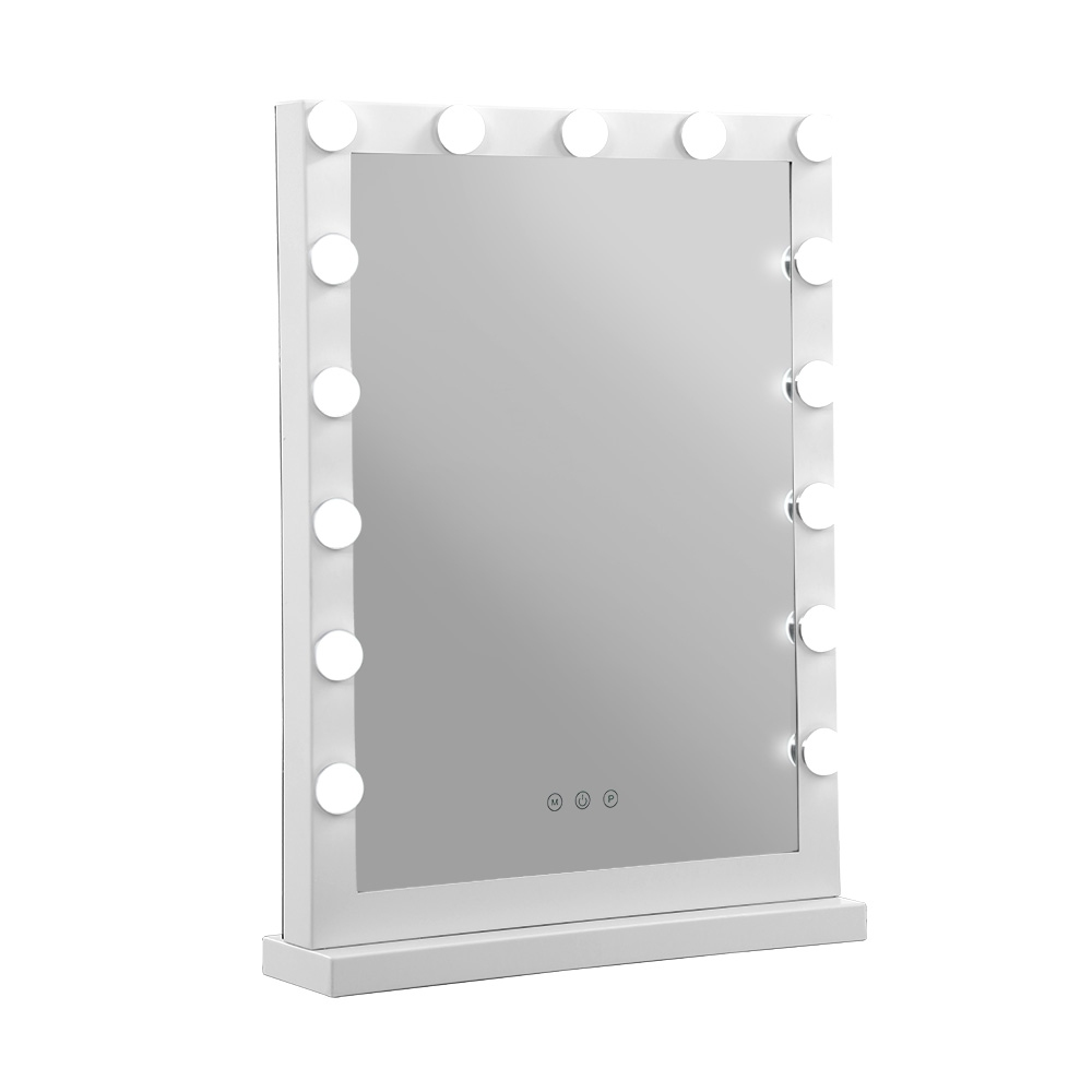 Brand New Embellir Hollywood Makeup Mirror With Light 15 LED Bulbs Vanity Lighted Stand Fast Free Shipping