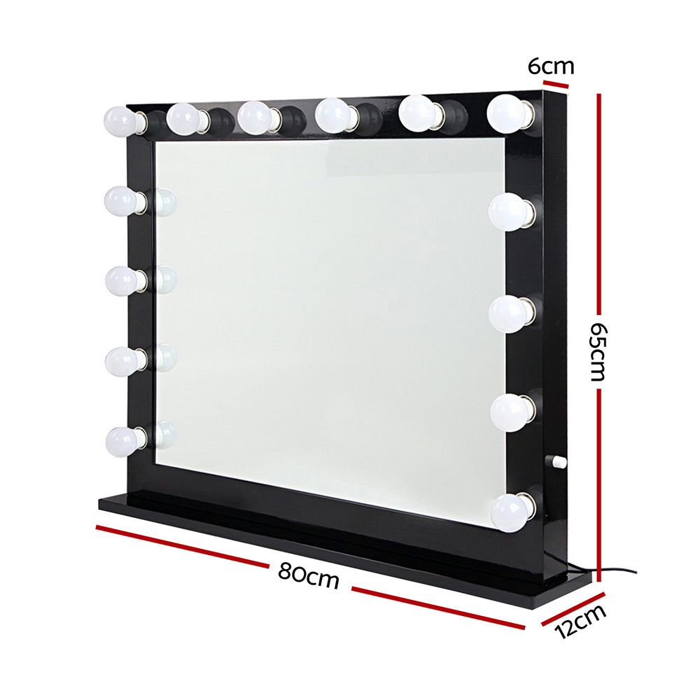 Brand New Embellir Make Up Mirror with LED Lights – Black Fast Free Shipping