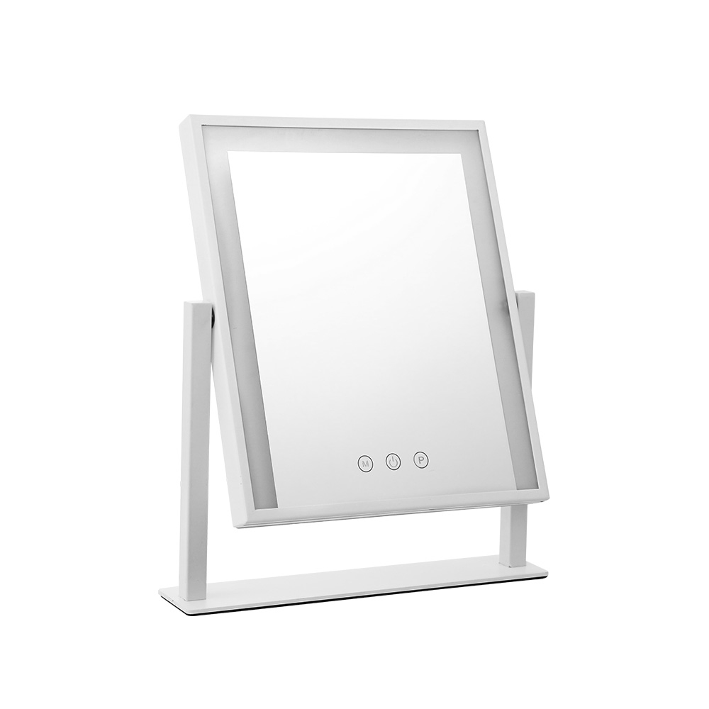 🥇 New Embellir LED Makeup Mirror Hollywood Standing Mirror Tabletop Vanity White ⭐+ Fast Free Shipping 🚀