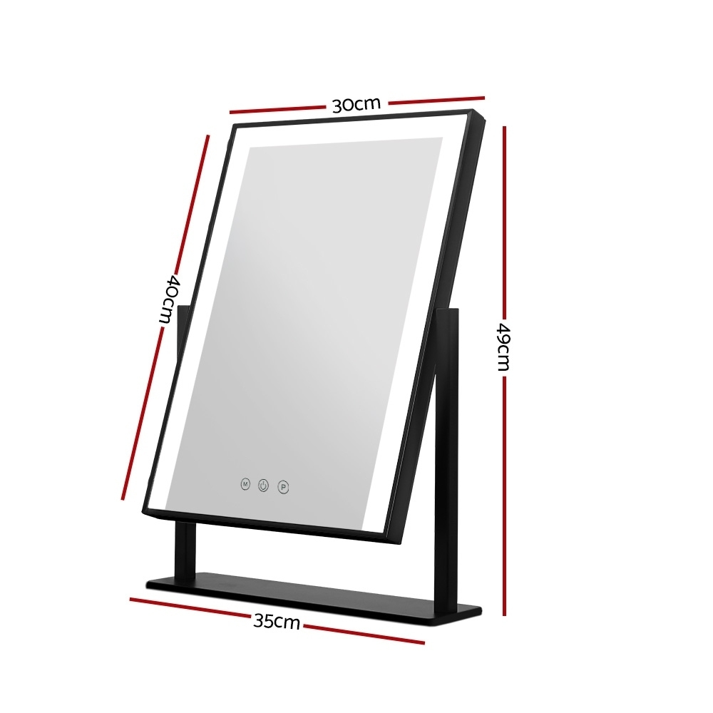 Brand New Embellir Hollywood Makeup Mirror With Light LED Strip Standing Tabletop Vanity Fast Free Shipping