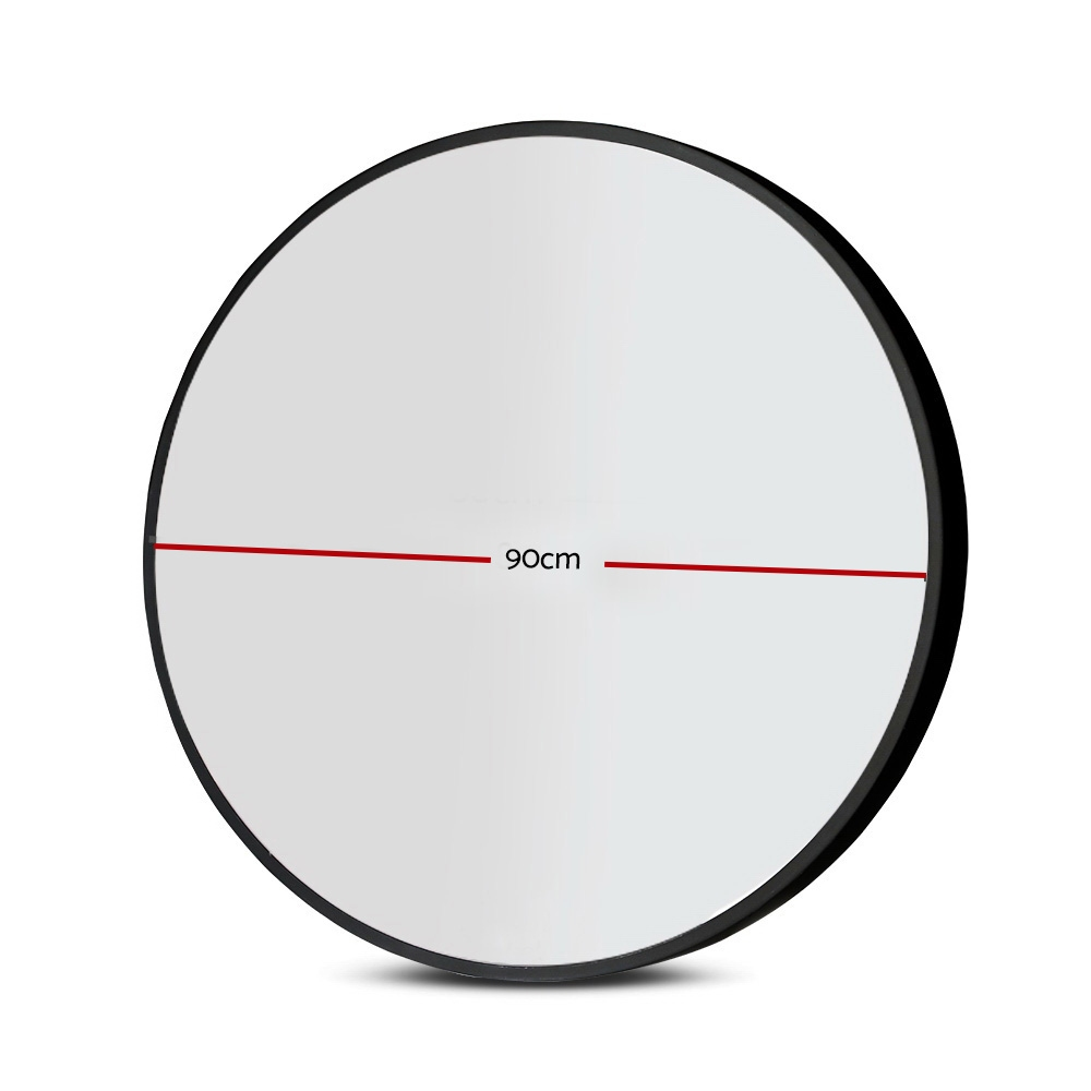 🥇 New Embellir 90CM Wall Mirror Bathroom Makeup Mirror Round Frameless Polished ⭐+ Fast Free Shipping 🚀