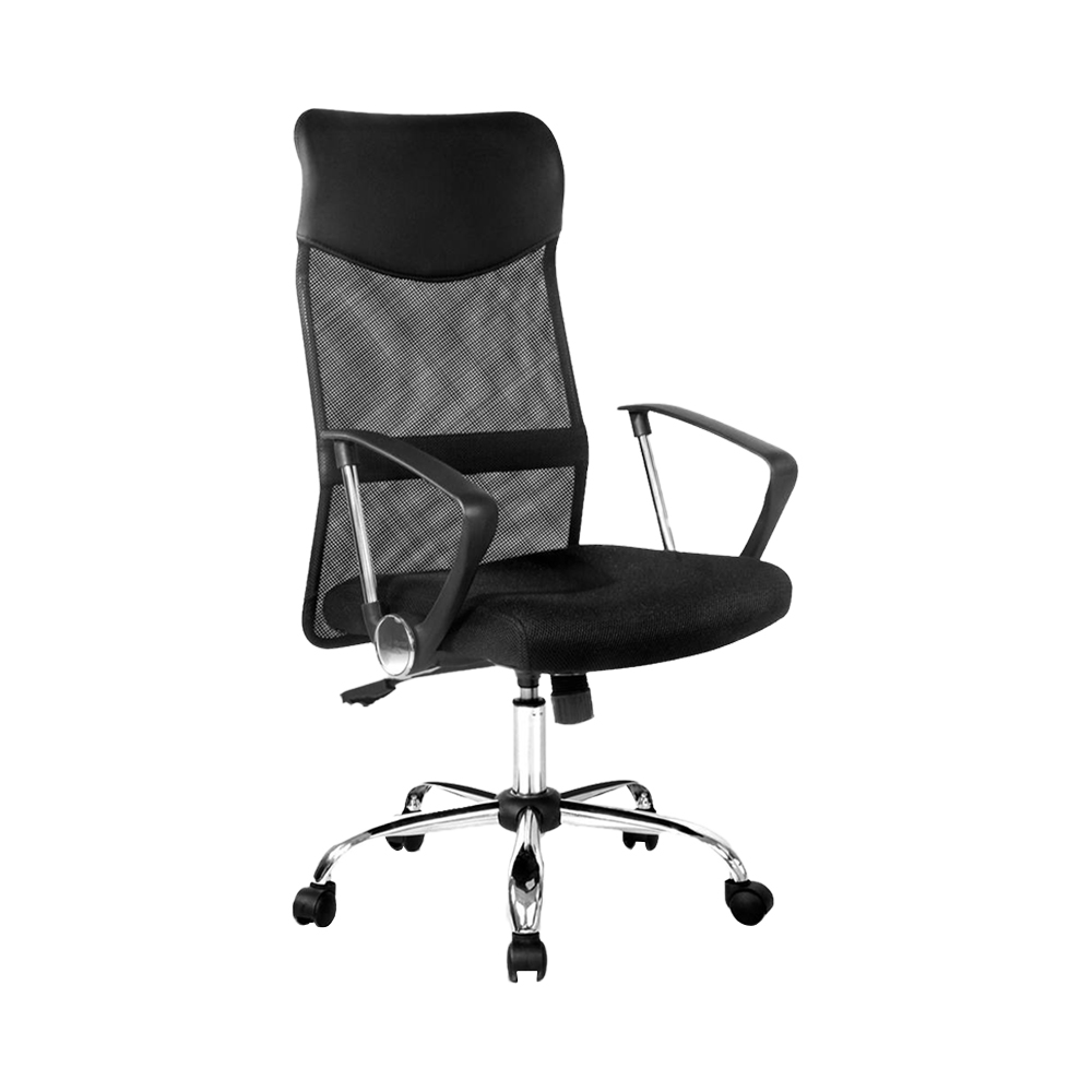 🥇 New PU Leather Mesh High Back Office Chair – Black ⭐+ Fast Free Shipping 🚀