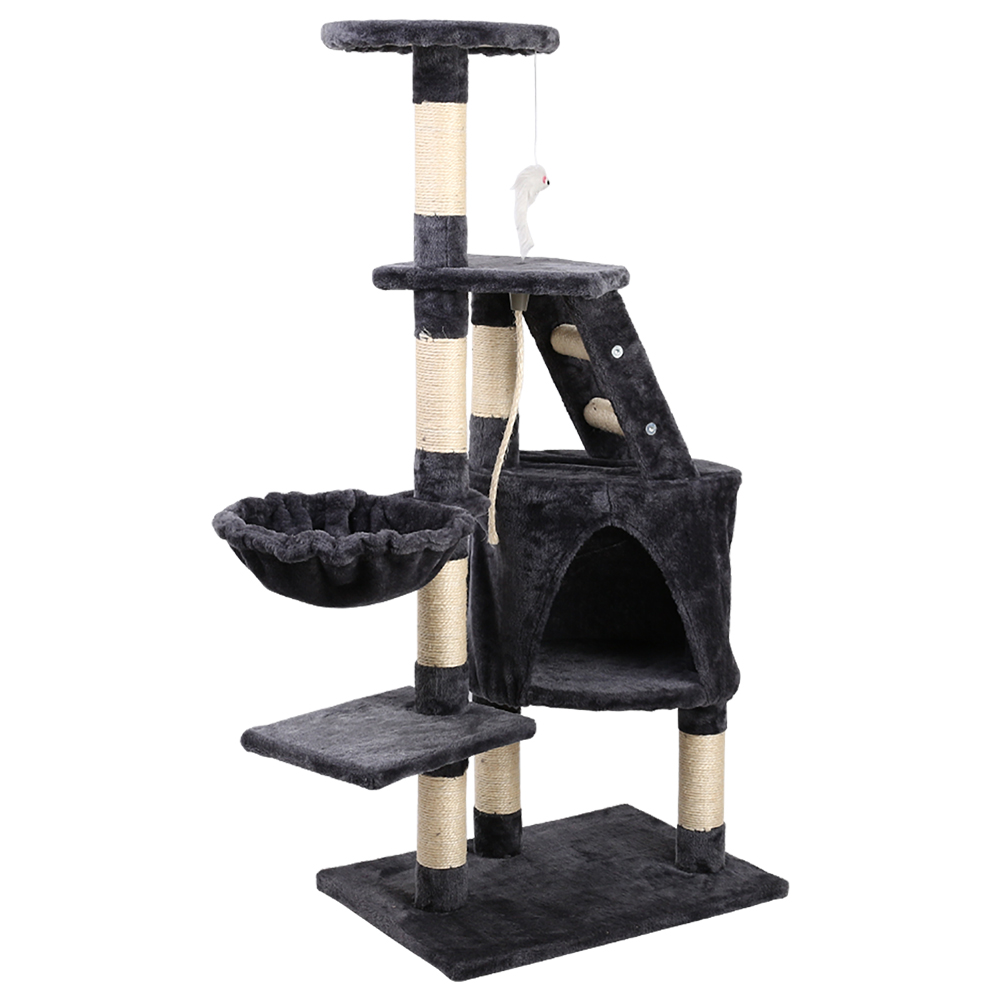 Brand New i.Pet Cat Tree 120cm Trees Scratching Post Scratcher Tower Condo House Furniture Wood Multi Level Fast Free Shipping