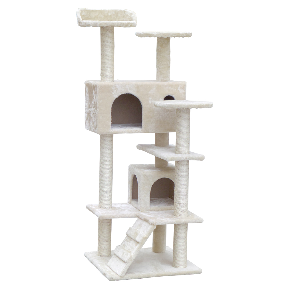 🥇 New i.Pet 134cm Cat Scratching Post – Beige ⭐+ Fast Free Shipping 🚀
