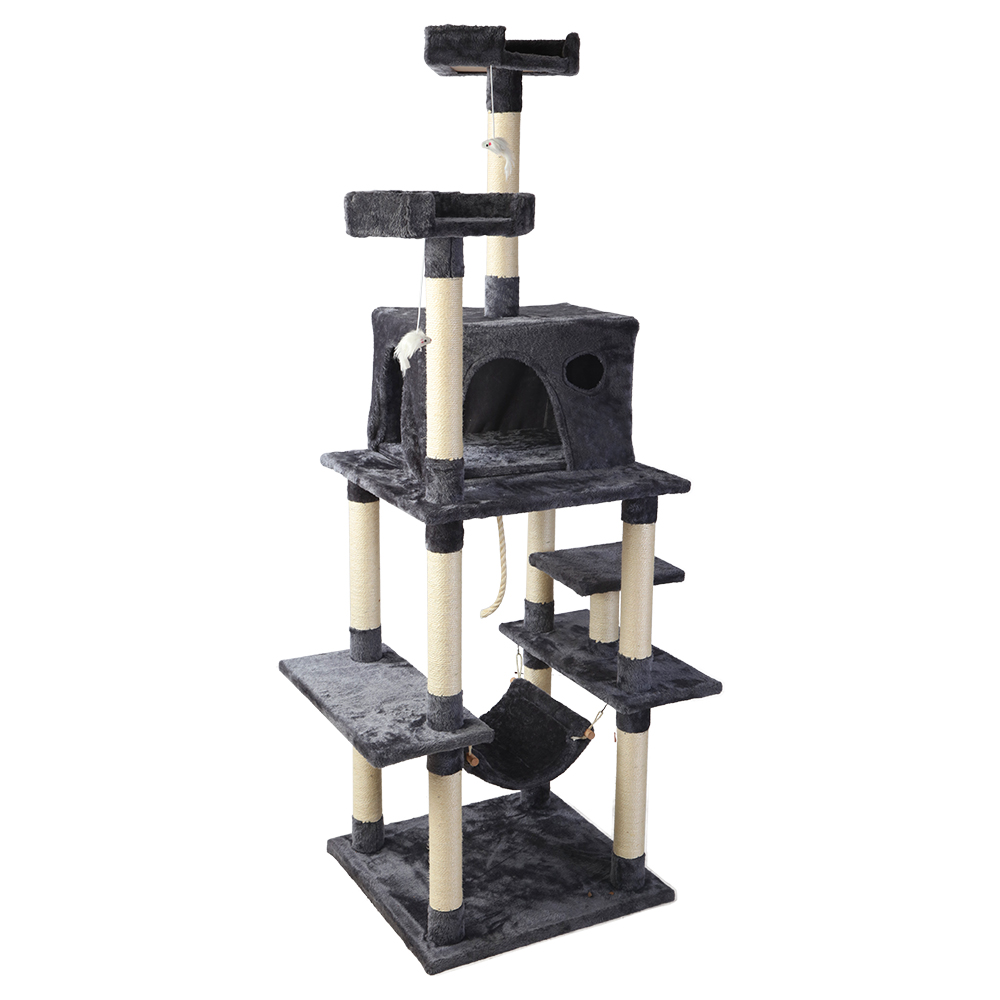 Brand New i.Pet Cat Tree 184cm Trees Scratching Post Scratcher Tower Condo House Furniture Wood Fast Free Shipping