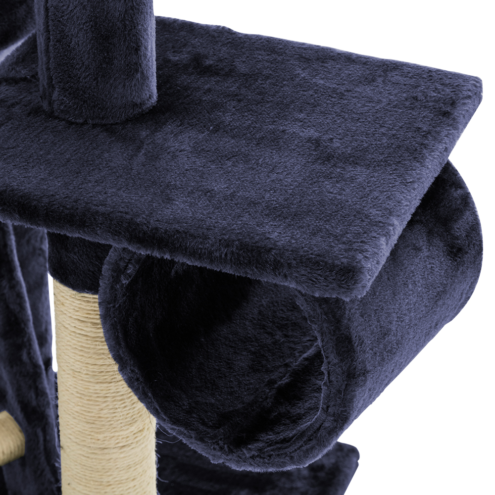 i.Pet Cat Tree 260cm Trees Scratching Post Scratcher Tower Condo House Furniture Wood Blue