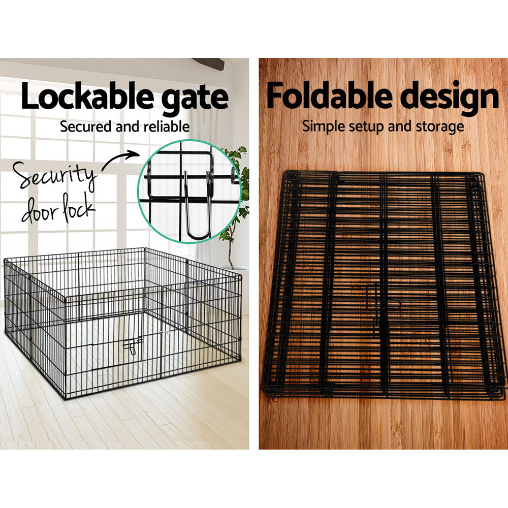 i.Pet 24 inch  8 Panel Pet Dog Playpen Puppy Exercise Cage Enclosure Play Pen Fence