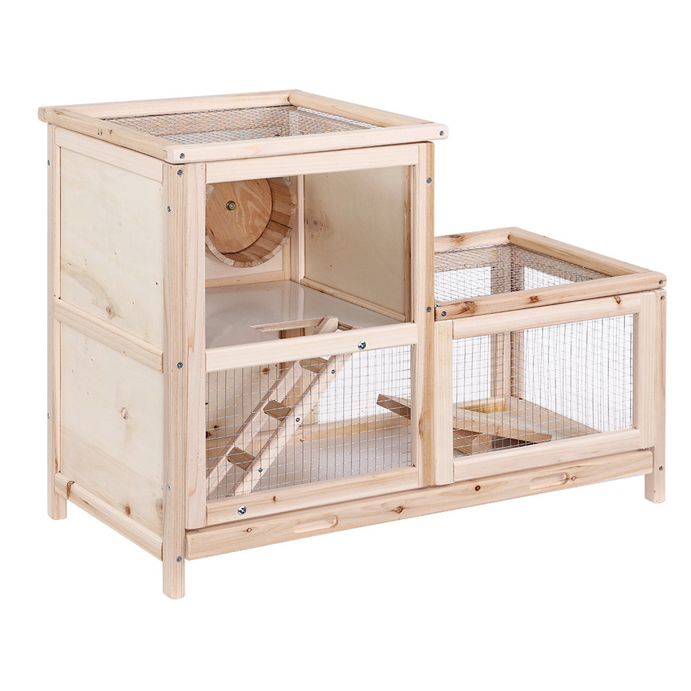 🥇 New i.Pet Hamster Guinea Pig Ferrets Rodents Hutch Hutches Large Wooden Cage Running 80cm x 40cm x 60cm ⭐+ Fast Free Shipping 🚀