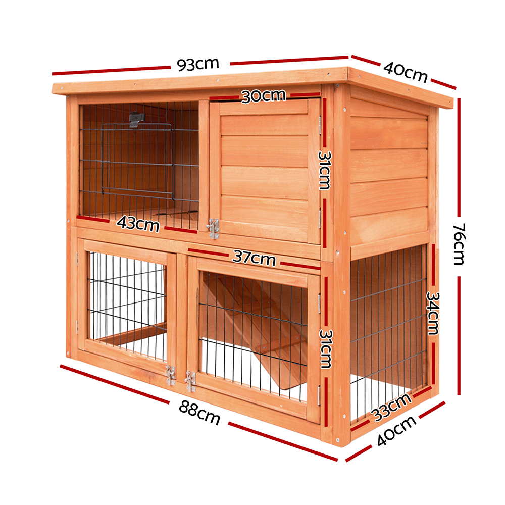 🥇 New i.Pet 93cm Tal Wooden Pet Coop ⭐+ Fast Free Shipping 🚀