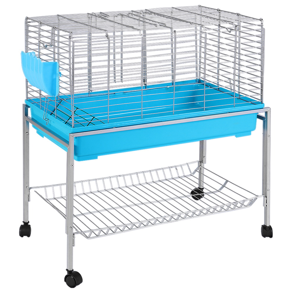 Brand New i.Pet Rabbit Cage Hutch Cages Indoor Hamster Enclosure Carrier Bunny Blue Fast Free Shipping