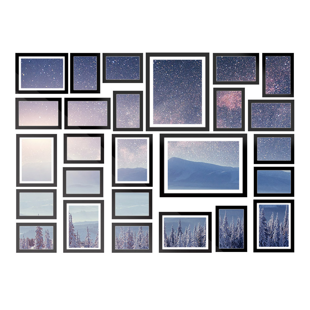 New 26 PCS Picture Photo Frame Wall Set Home Decor Present Gift Black + Fast Free Shipping