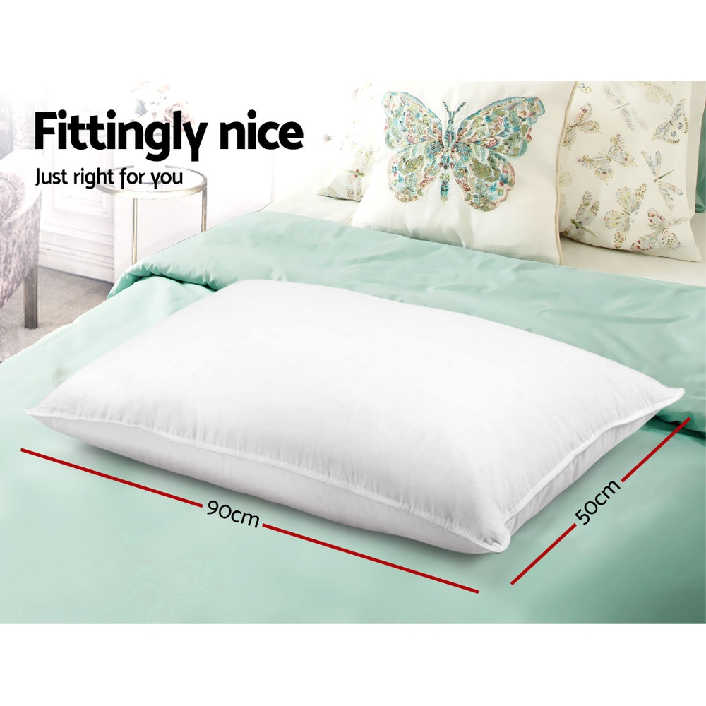 Brand New Giselle Bedding King Size 4 Pack Bed Pillow Medium*2 Firm*2 Microfibre Fiiling Fast Free Shipping