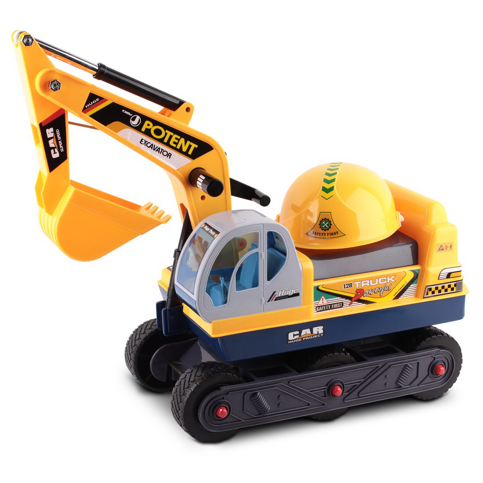 Brand New Keezi Kids Ride On Excavator – Yellow Fast Free Shipping