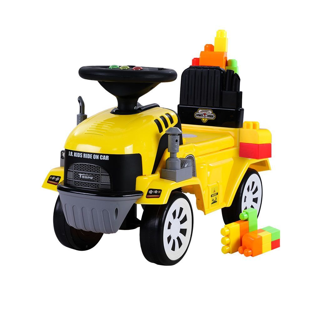 🥇 New Keezi Kids Ride On Car w/ Building Blocks Toy Cars Engine Vehicle Truck Children ⭐+ Fast Free Shipping 🚀