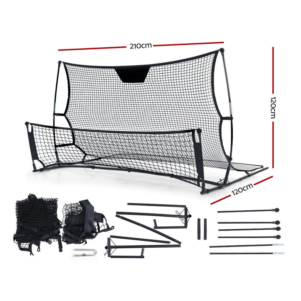 🥇 New Everfit Portable Soccer Rebounder Net Volley Training Football Goal Trainer XL ⭐+ Fast Free Shipping 🚀
