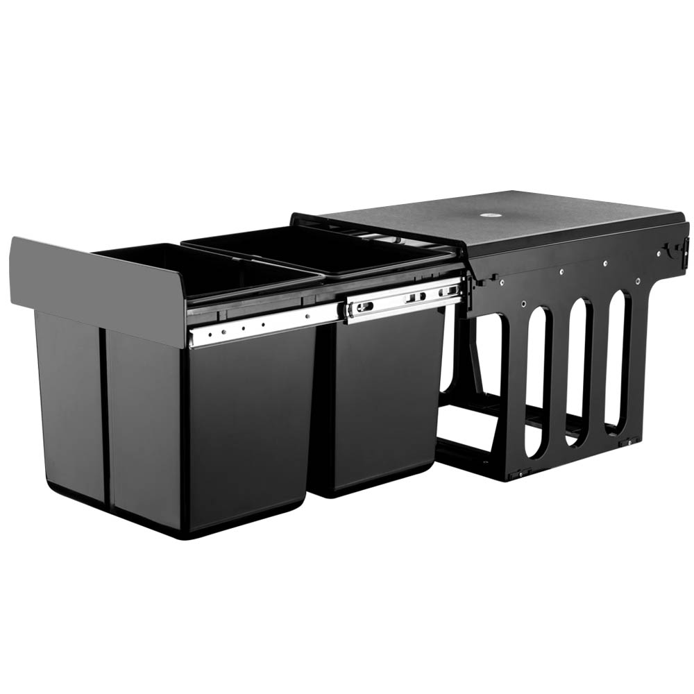 🥇 New Cefito 2x15L Pull Out Bin – Black ⭐+ Fast Free Shipping 🚀