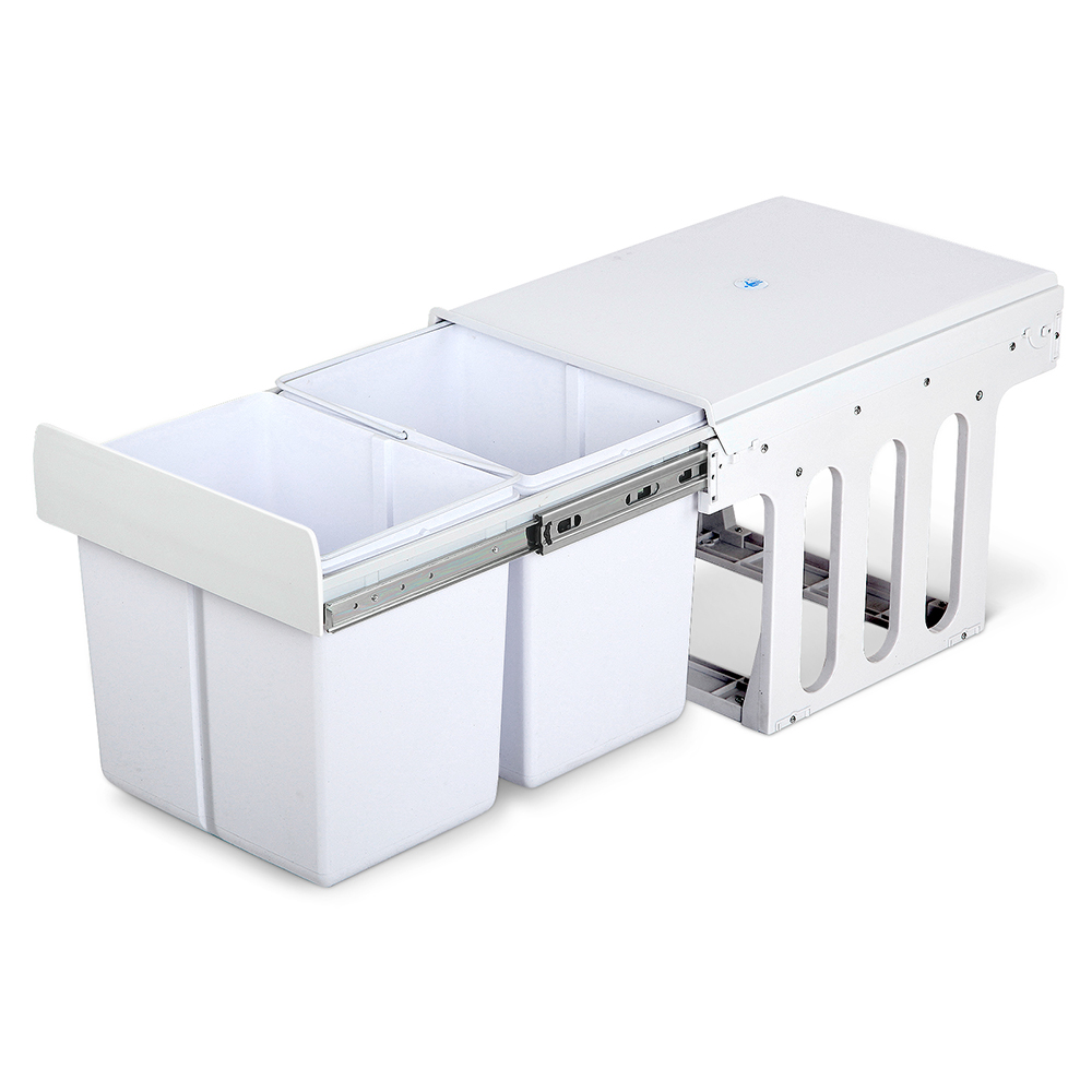 🥇 New Cefito 2x15L Pull Out Bin – White ⭐+ Fast Free Shipping 🚀