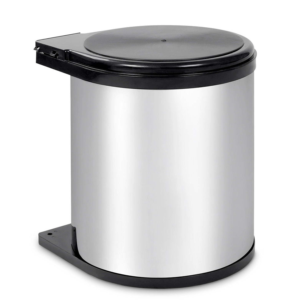 🥇 New Kitchen Pull Out Stainless Steel Bin – Silver ⭐+ Fast Free Shipping 🚀