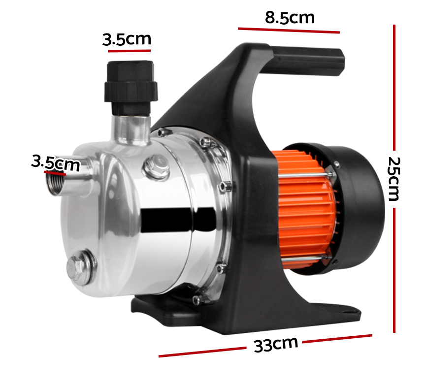 🥇 New Giantz 800W Stainless Steel Garden Water Pump ⭐+ Fast Free Shipping 🚀