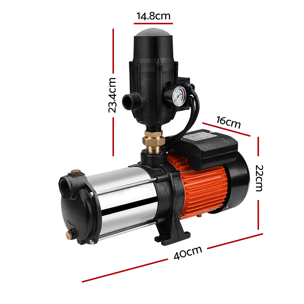 Multi Stage High Pressure Water Pump Garden Farm Rain Tank Irrigation (PUMP-ST5-1800W-TPC )