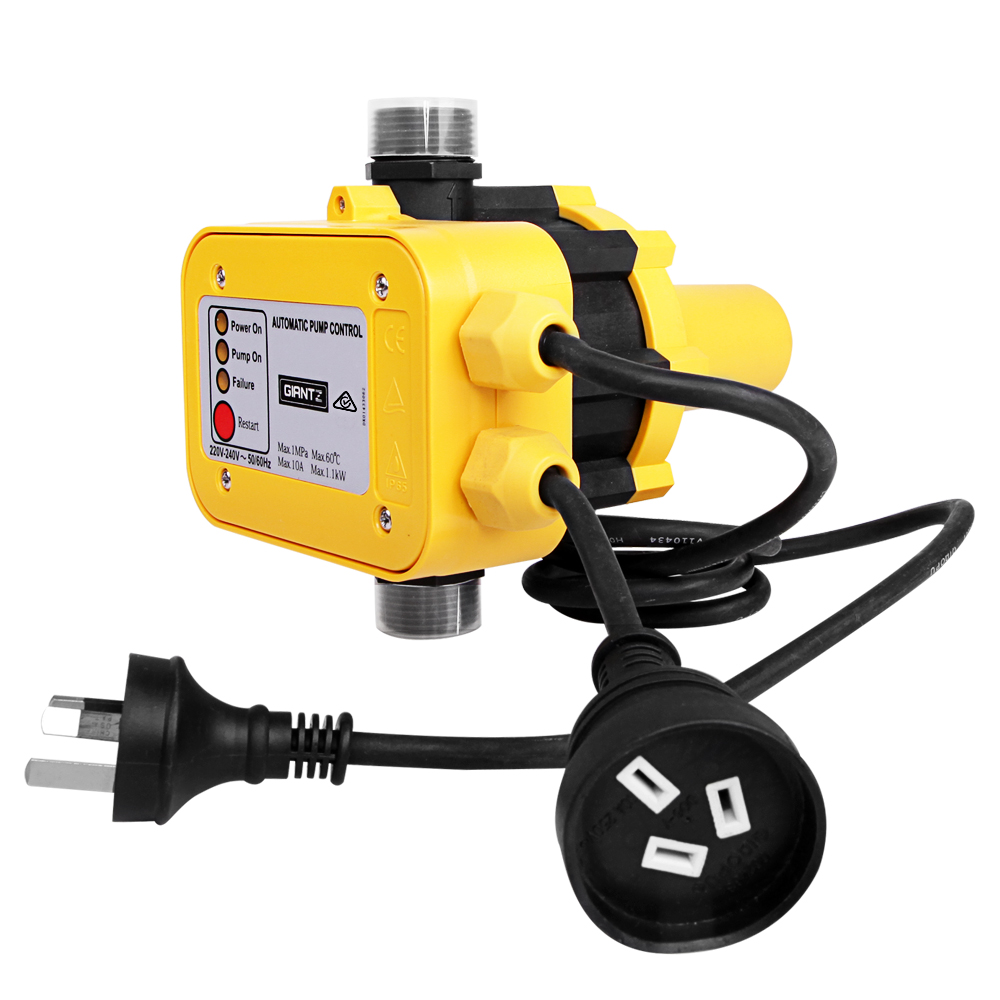 🥇 New Giantz Automatic Electronic Water Pump Controller – Yellow ⭐+ Fast Free Shipping 🚀