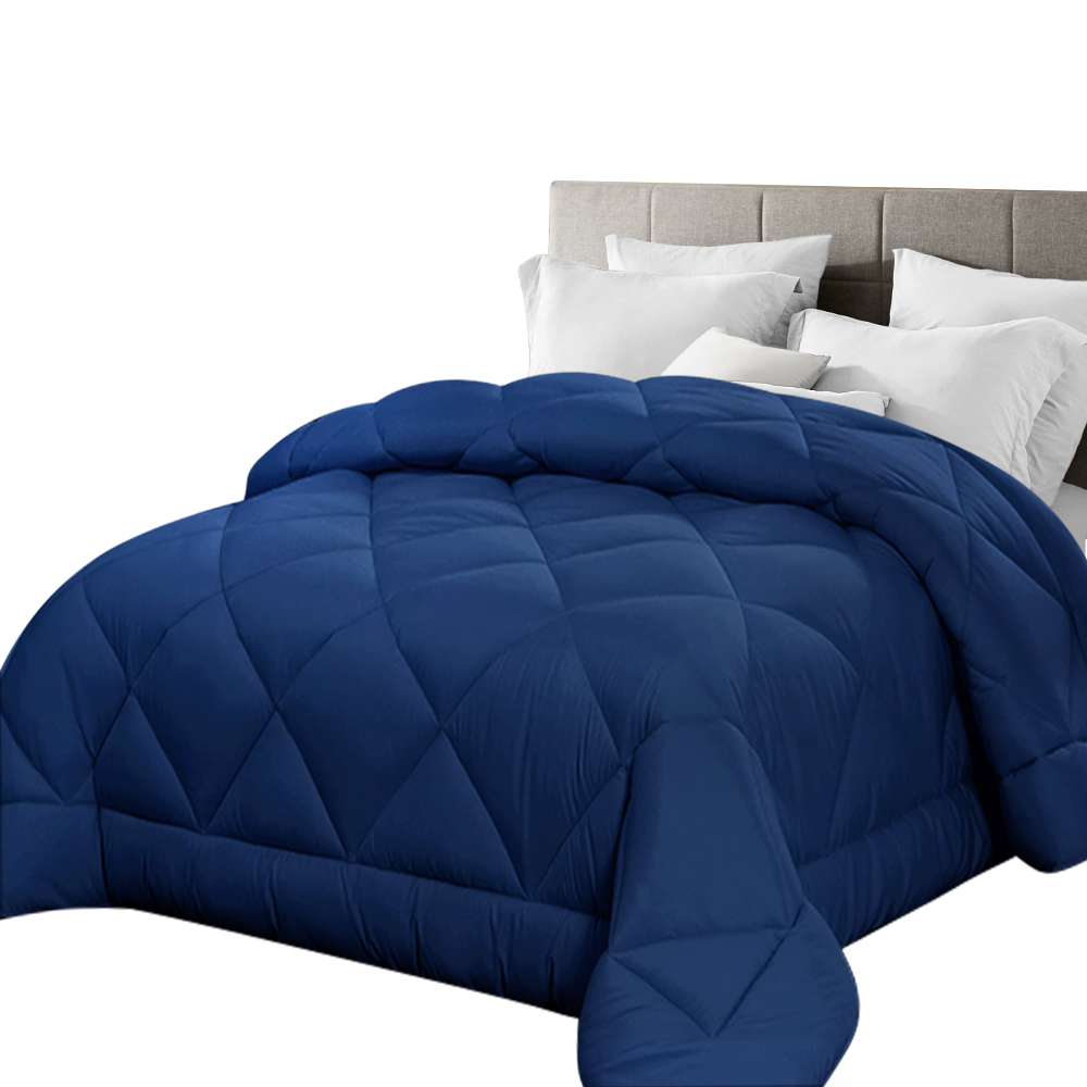 🥇 New Giselle Bamboo Microfibre Microfiber Quilt 700GSM King Doona All Season Blue ⭐+ Fast Free Shipping 🚀