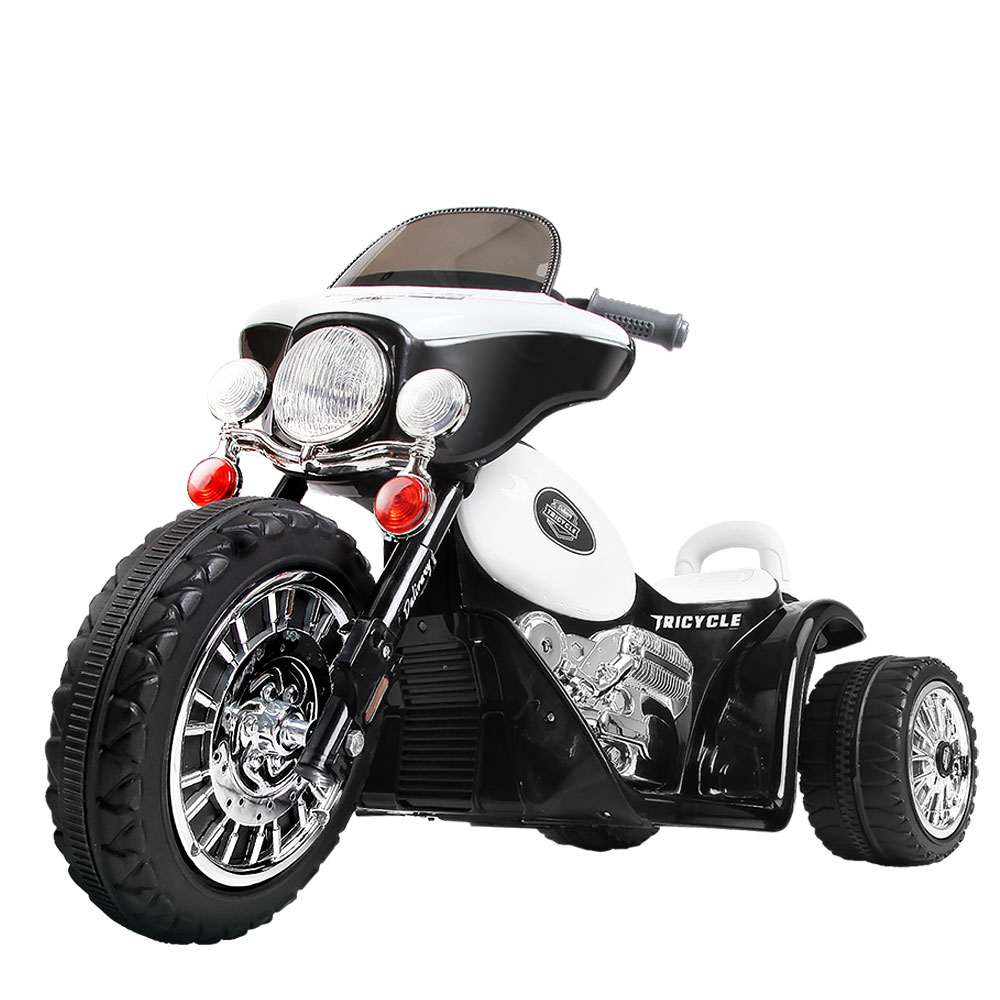 Brand New Rigo Kids Ride On Motorbike Motorcycle Toys Black White Fast Free Shipping