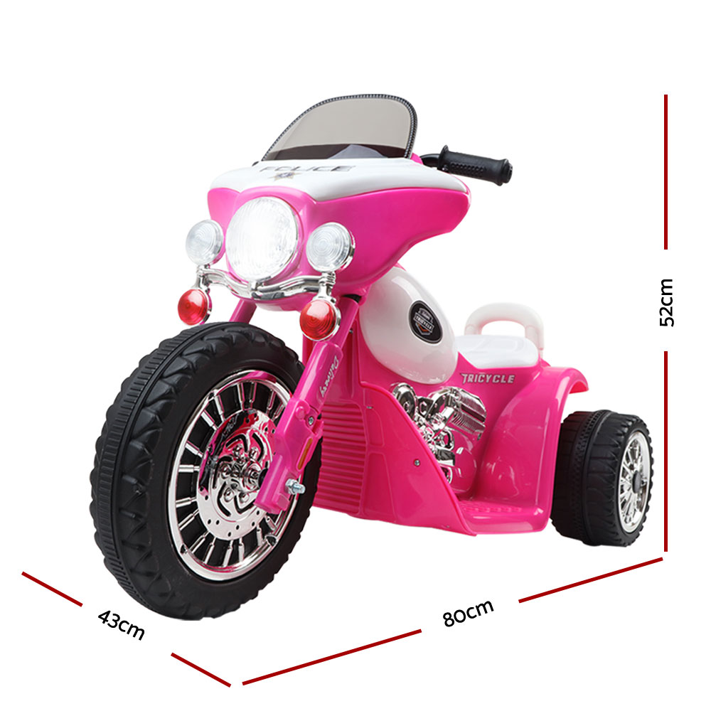 🥇 New Rigo Kids Ride On Motorbike Motorcycle Toys Pink ⭐+ Fast Free Shipping 🚀