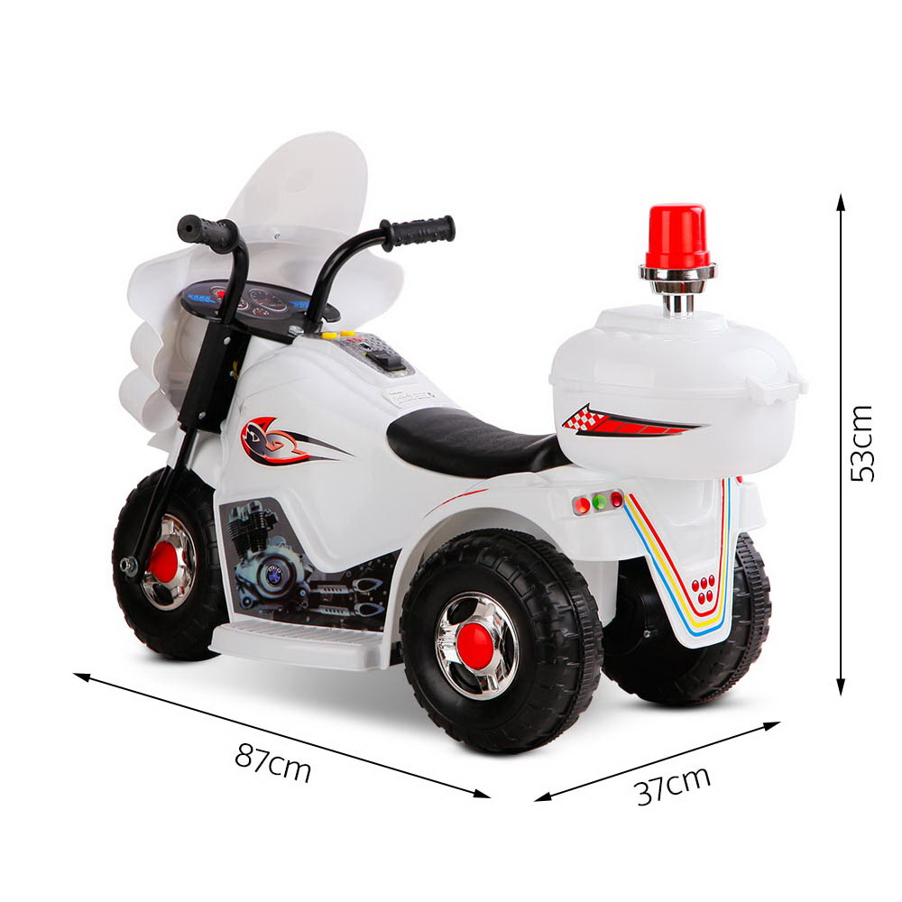Brand New Rigo Kids Ride On Motorbike Motorcycle Car Toys White Fast Free Shipping