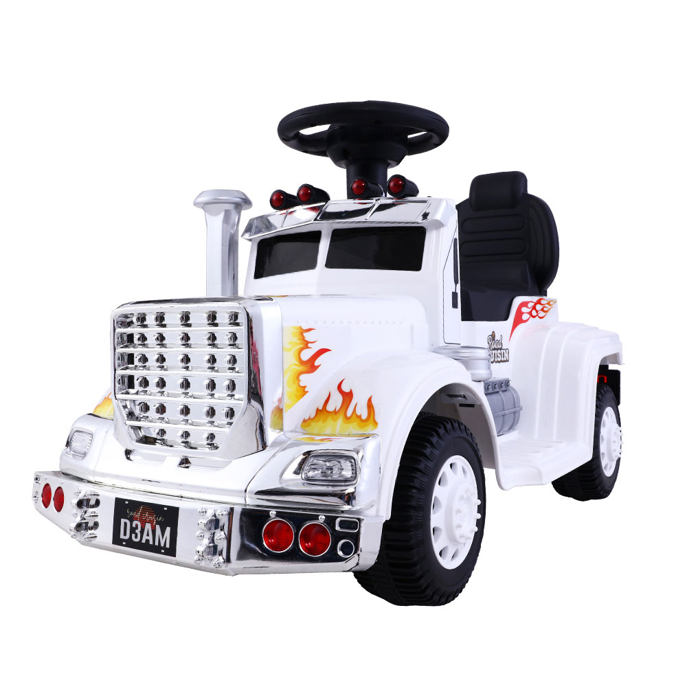 Brand New Ride On Cars Kids Electric Toys Car Battery Truck Childrens Motorbike Toy Rigo White Fast Free Shipping