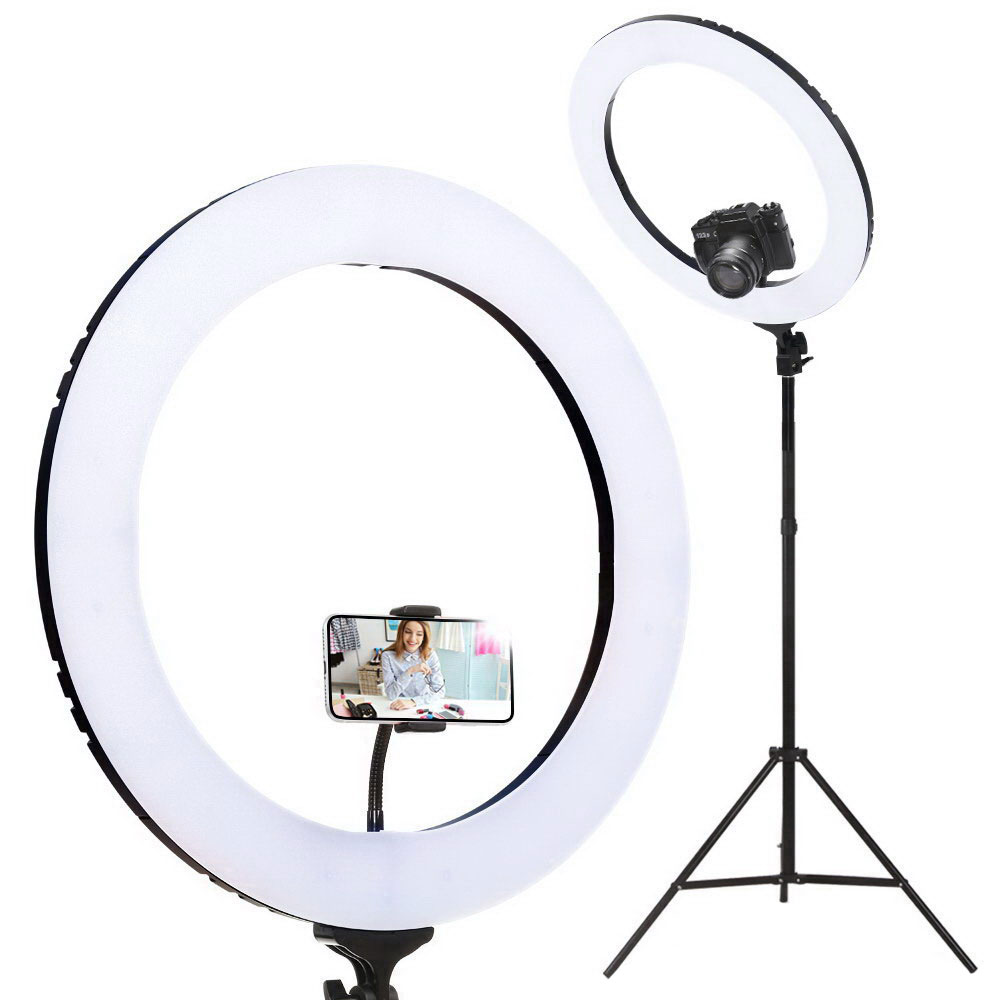 Brand New 19″ LED Ring Light 6500K 5800LM Dimmable Diva With Stand Make Up Studio Video Fast Free Shipping
