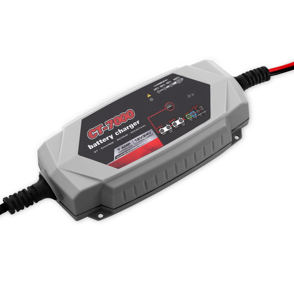 🥇 New Smart Battery Charger 7A 12V 24V Automatic SLA AGM Car Truck Boat Motorcycle Caravan ⭐+ Fast Free Shipping 🚀