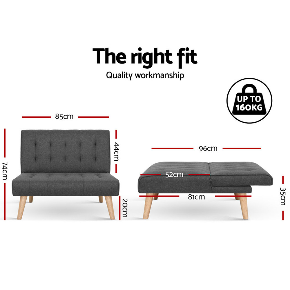 🥇 New Artiss Sofa Lounge Recliner Chair Futon Couch Single 1 Seater Modular Bed Set ⭐+ Fast Free Shipping 🚀